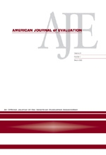 Current issue of the American Journal of Evaluation